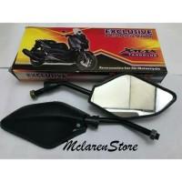 Spion Motor Model XMAX Tangkai Hitam Honda / Yamaha