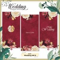 Angpao Custom Nama Wedding Pernikahan Amplop Uang Murah Bunga Motif