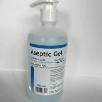 Aseptic gel + dispenser 500ml / antiseptic gel / hand sanitizer