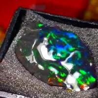 bahan batu black opal kalimaya banten