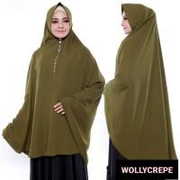 Jilbab Syari Wollycrepe PREMIUM Khimar Jumbo bisa u/ Umrah dan Sholat