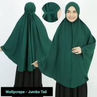 Khimar Tali Jumbo Jilbab Syari Wollycrepe ADJ Bisa u/ Sholat dan Umrah
