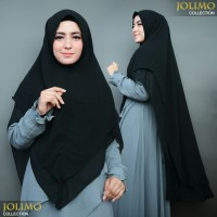 KHIMAR Ceruti Babydoll LV PINGUIN Hijab Syari 2 Layer NONPET Bisa COD