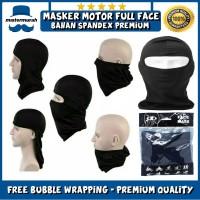 Masker Full Face Spandex Motor Helm Balaclava Ninja Polos Mask