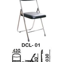 Indachi Kursi Kantor Belajar Kampus Besi Lipat Dcl-01 Utility Series