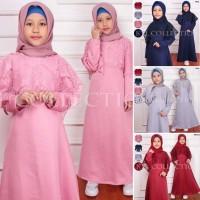 Gamis Anak Bismilah Kids Dress Fashion Muslim Brukat Lebaran Maxi Ana