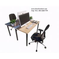 Meja partisi kantor 2 staff,Meja cubicle kantor