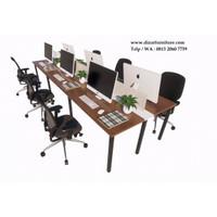 Meja staff kantor untuk 6 orang ,meja kubikel custom