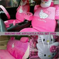 Sarung Jok Mobil AGYA AYLA Full Set Motif HELLO KITTY P DMB