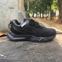 bagus Sepatu sekolah anak hitam Nike laki laki dan perempuan baru