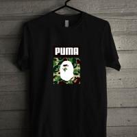 Kaos Baju T Shirt Distro Bape Camo x Puma P1277