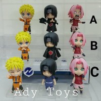 pcs Set Naruto Sasuke Sakura Nendroid Figure Movie Anime Cartoon Murah