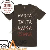 Kaos Baju Unik Combed 30s Distro Harta Tahta Raisa Isyana Jersey