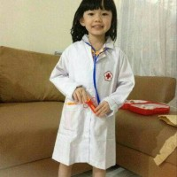 BEST MODEL Baju Profesi Dokter ukuran L dan XL Kostum Anak PAKAIAN