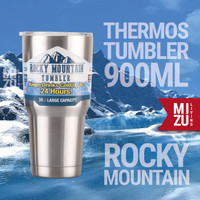 Rocky Mountain Thermos Tumbler 900ml Hot Cold Water Stainless Steel