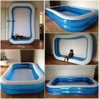 Kolam renang anak Bestway kotak biru 262cm #54006 - kolam karet