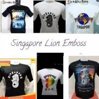 kaos Singapura bahan katun halus
