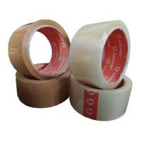 Lakban Bening/Coklat merek Handeru Selotip Coklat 45 mm x 60 yard