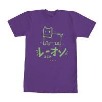 Kaos Graphic Tee T-shirt Oren Doodle Ungu