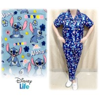 Baju Tidur Wanita/Cewek Piyama Pajamas Motif Murah Lilo Stitch Aloha