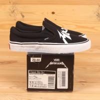 Sepatu Vans x Metallica Classic Slip On Black White VN0A38F7PZJ BNIB
