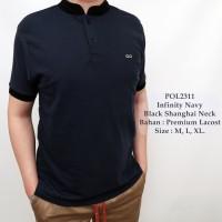 Polo Kombinasi Merah / Polo Shirt Cowok / Kaos Kerah Koko Pria