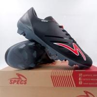 Sepatu Bola Specs Swervo Galactica Pro FG Black Grey Red 101108 Origin