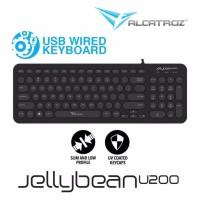 Alcatroz Keyboard Wired JellyBean U200 [ 2 Tahun Garansi Resmi ]