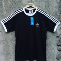 New Arrival! Adidas Originals 3-Stripes Logo T-Shirt Black White