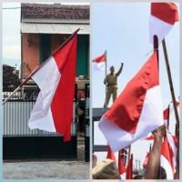 bendera merah putih bahan katun ukuran 110cmx70cm