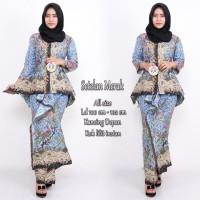 setelan rok batik - setelan batik merak - baju pesta kondangan