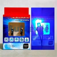 Autovision Microzen LED T10 Canbus Blue Biru Lampu Senja Motor Mobil