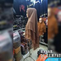 Hijab Jilbab Khimar Kerudung Syari 3 Layer Model Pinguin Bahan Ceruti
