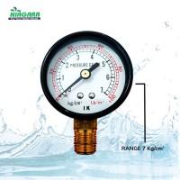 Pressure Gauge Pengukur Tekanan Air 7kgcm2