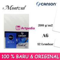 Canson Montval A6 200gsm 12 Sheet - Watercolour paper Montval A6