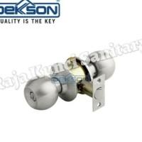 Kunci Bulat Kamar Mandi Dekson 8587 BK/Kunci Pintu WC