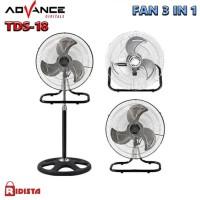 KIPAS ANGIN BESI / TORNADO FAN ADVANCE TDS 18 3IN1 ( 18 Inch )