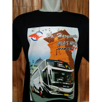Kaos Bus Warna Po Haryanto Baju Bus Java King Tshirt Bismania HR-16