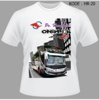 Kaos Bus Po Haryanto Baju Bis Shd Tshirt Busmania Elnino BMC HR-20