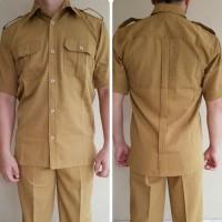 Baju Seragam Khaki Pdh Pns/Pemda/Guru/Pria/Laki Dongker
