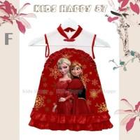 Dress Fashion Anak Cheongsam Frozen Merah