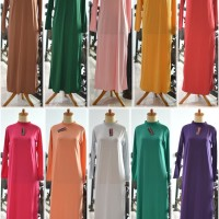 dalaman gamis baju muslim kaftan manset panjang inner terusan