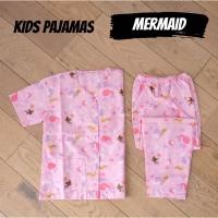 Setelan Baju Tidur Anak Cowok Cewek KIDS MERMAID piyama anak murah