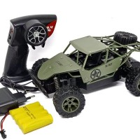mainan mobil remote control rc off road monster truck army