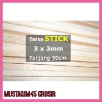 Terlaris Stick Kayu Balsa 3Mm 3Mm X 50Cm