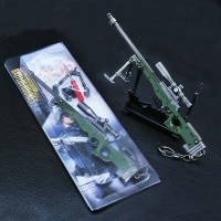 Gantungan PUBG ukuran besar 18cm AWM SCAR L M416 helmet keychain kunci