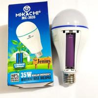 Bohlam lampu emergency 35 wat 2 baterai 18650 mikachi