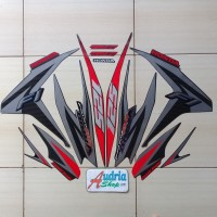 Sticker Striping Motor Honda Vario Cbs Iss 125 FI 2013 Hitam