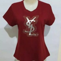 Gelmello Kaos wanita T-shirt kaos atasan cewek Tumbler Tee 140 - Marron, M