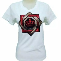 Gelmello Kaos Cewek T-Shiert Oblong Wanita Atasan Tumbler Tee 133 - Putih, M